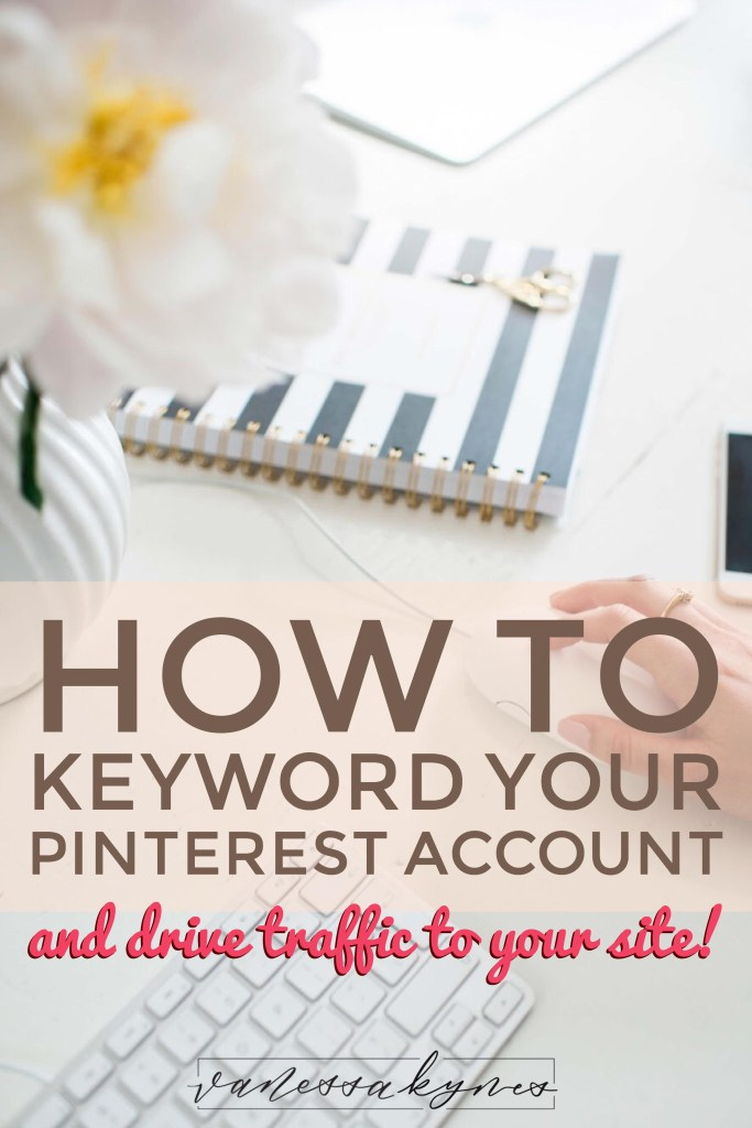 Are you using keywords in your Pinterest marketing strategy? I explain how to get started using keywords to drive traffic to your site.