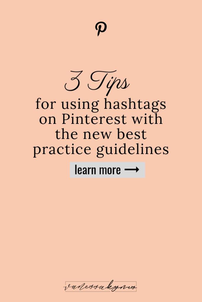 Using the best hashtags on Pinterest- Vanessa Kynes