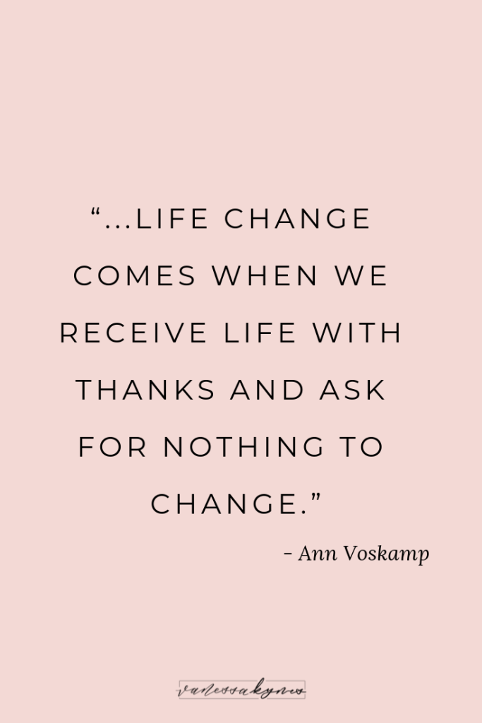 Ann Voskamp and Gratitude- Vanessa Kynes