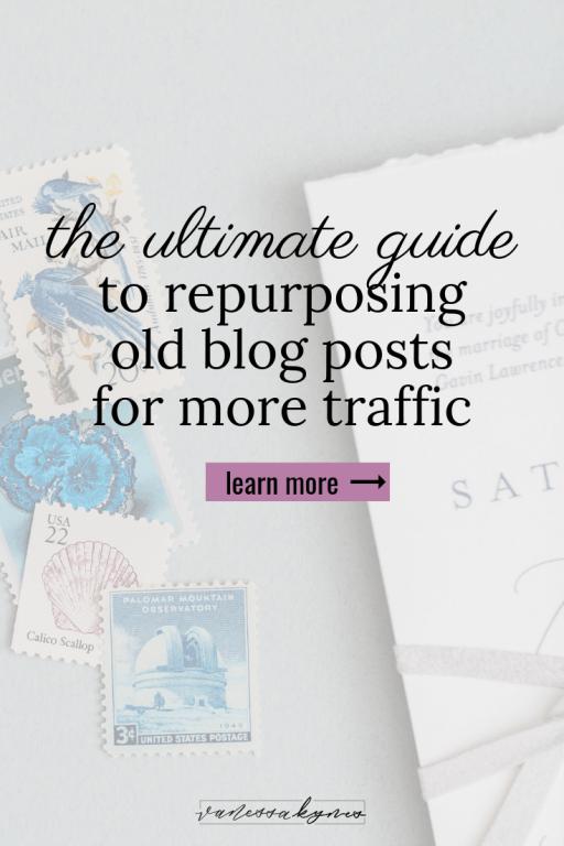 repurposing blog posts on Pinterest- Vanessa Kynes