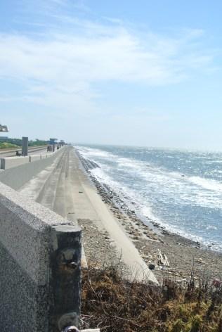Biking along the ocean