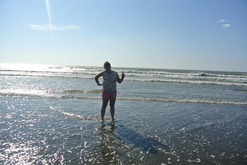 Feet in the Taiwan Strait