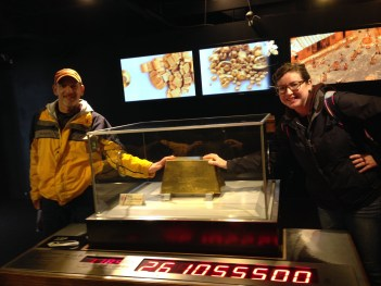 My dad and I touching a whole lot of gold!