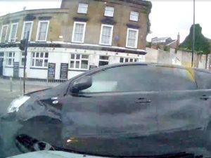 VisionTrack dashcam crash footage