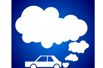 Car pollution graphic