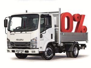 Isuzu Trucks' 0% finance offer applies to the Grafter 3.5t tipper models
