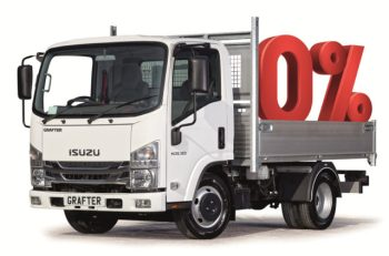 Isuzu Trucks' 0% finance offer applies to the Grafter 3.5t tipper models
