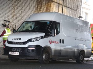 Iveco Daily Natural Power van run by Veolia.