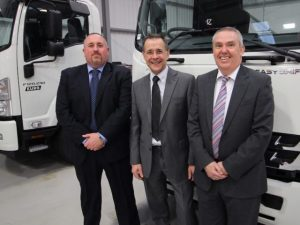 (L-R) Lee Tansley, Martin Bragg and Dave Slatcher from Isuzu Truck UK