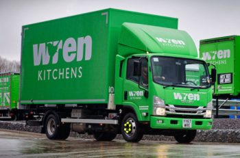 Upsizing the delivery vehicles has enabled the fleet to be cut from 100 vans to 45 Isuzu trucks.