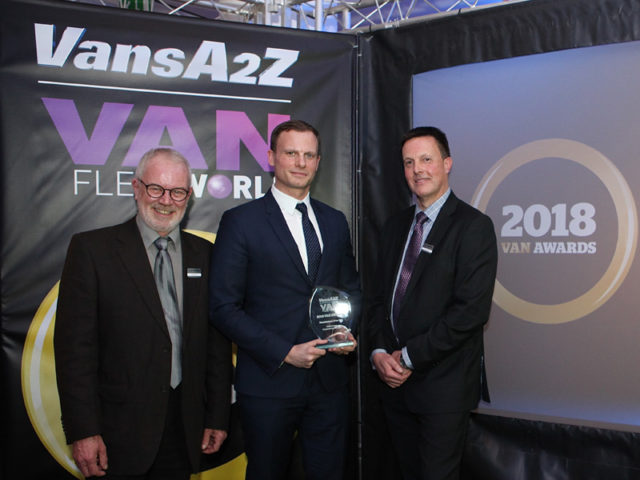 James Allit picks up the award for Manufacturer of the Year, with Neil McIntee (left) and Dan Gilkes (right)