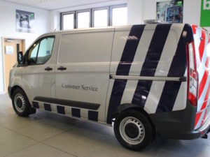 The Transit Custom's 3.4T chassis gives the fleet greater capacity, combined with increased internal space.