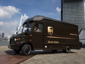 The smart grid technology means UPS can now switch all 170 of its delivery vehicles for its London site to EVs.