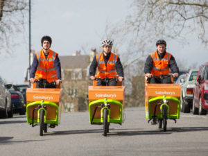 Sainsbury's South London trial of electric cargo bikes could be rolled out elsewhere.