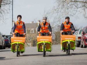 Trials with Sainsbury's showed 96.7% of orders could be fulfilled in a single e-cargo bike drop