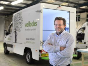 Rupert Gatty, CoolKit MD, with one of the new Wellocks box body vehicles
