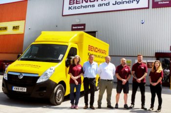 Eight new Movano vans have joined the Benchmarx Kitchens & Joinery fleet