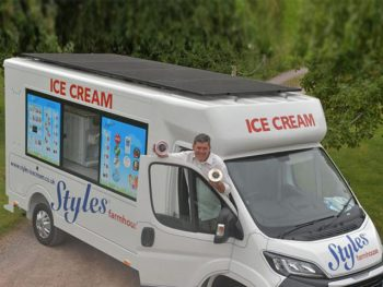 Exmoor-based Styles Ice Cream has developed a prototype van that uses roof-mounted solar panels instead of diesel generators