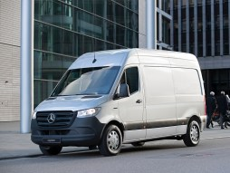 Mercedes-Benz says the eSprinter's range of 96 miles is proven to be adequate enough for most van drivers, with the European average daily distance being just 60 miles