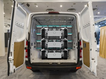 If.Micro stacked in a van