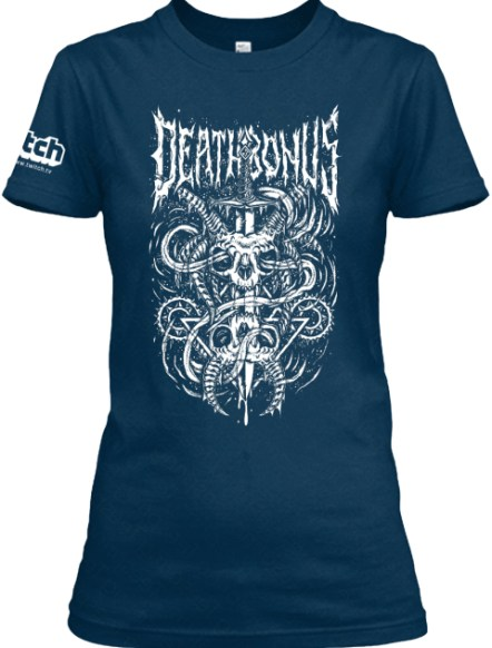 Itch Deathbonus Midnight Navy T-Shirt Front