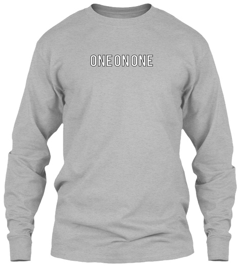 One On One Sport Grey Long Sleeve T-Shirt Front