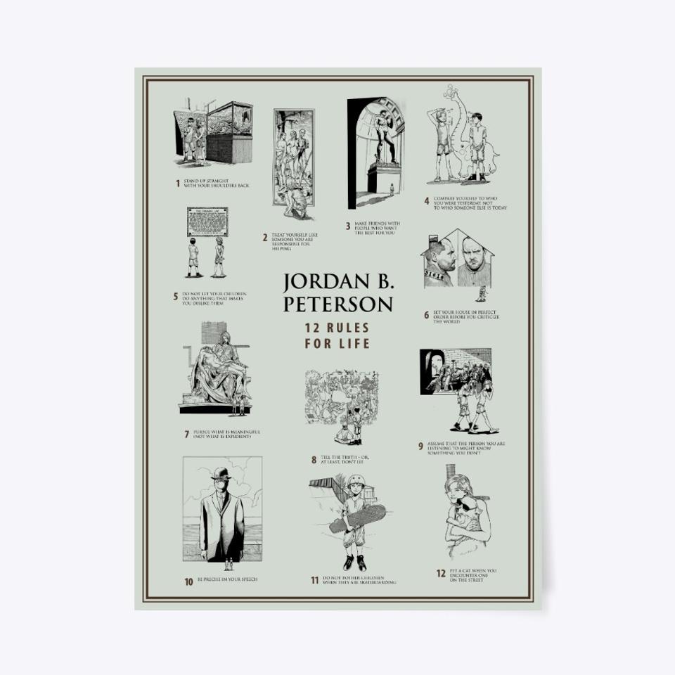 dr jordan b peterson 12 rules poster