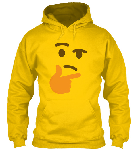 thinking emoji hoodie