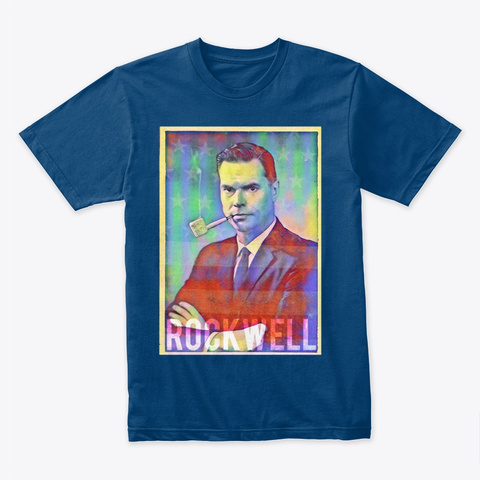 Rockwell Americana (Colorful) Cool Blue T-Shirt Front