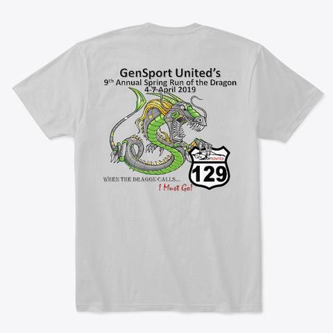 Gsu 2019 Spring Dragon T Shirt V1.0 Light Heather Grey  T-Shirt Back