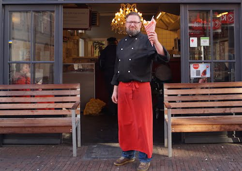 Foto van Arn voor Vlaams friteshuis van Gogh Amersfoort