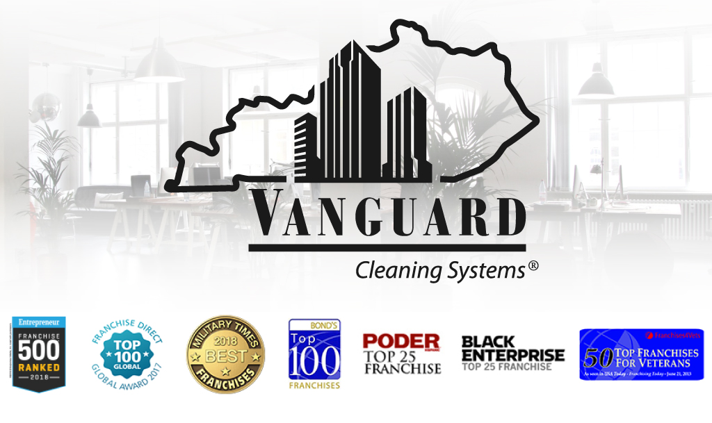 Vanguard Logo with office background