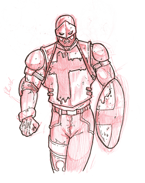 Pendragon Armour Sketch
