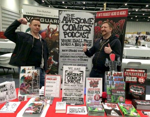 Vanguard london Super Comic con dan Butcher