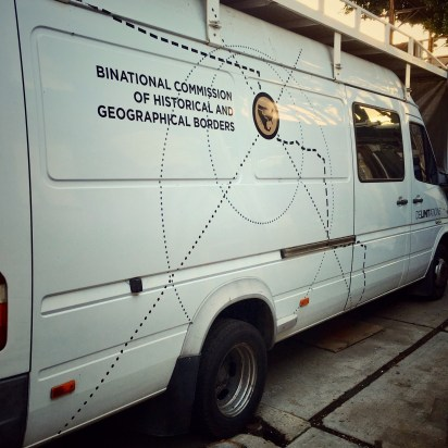 The van used for the project DeLIMITations.
