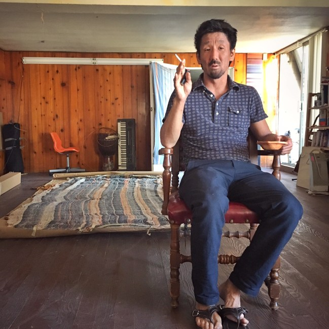 Shinpei Takeda takes a moment to relax in his studio. Photo by Chi Essary