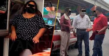 Lesionadas-en-colisión-de-taxis,-en-Poza-Rica-2
