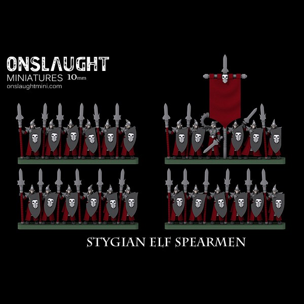 10mm Stygian Elf Spearmen