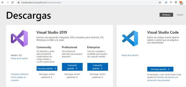 Instalar Visual Studio