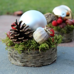 Christmas Arrangement Baubles Berries Pinecones