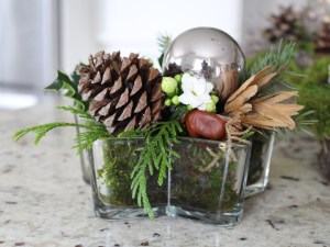 Modern Star Christmas Vase Arrangement