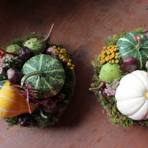thanksgiving arrangement rustic modern