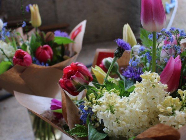 Mother's Day spring flowers bouquet