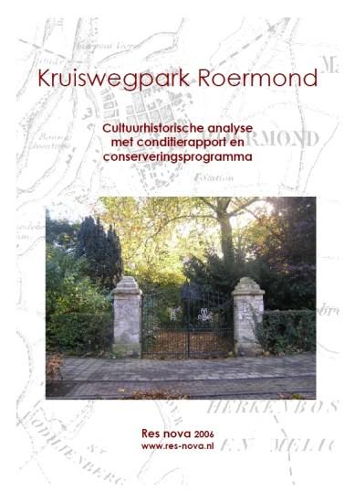 Cuypers4all   Omslag van het rapport over het Kruiswegpark uit 2006