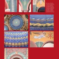 Pagina uit 'De genade van de steiger' (2013) met ornamenten van Piet Gerrits in de Cenakelkerk in de Heilig Landstichting. Screenshot bvhh.nu 2014.