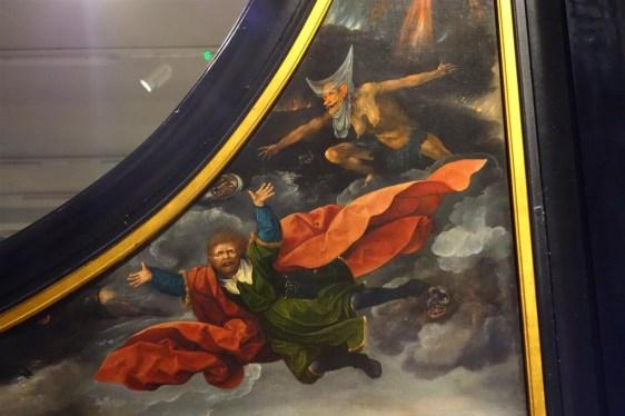 Clemens in de Legenda aurea: de val van Simon Magus door Rombouts, circa 1522-1530