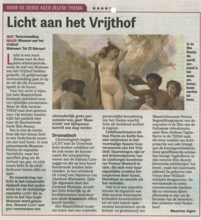 Museum aan het Vrijthof LICHT | Telegraaf dec. 23 07-18-57-lr