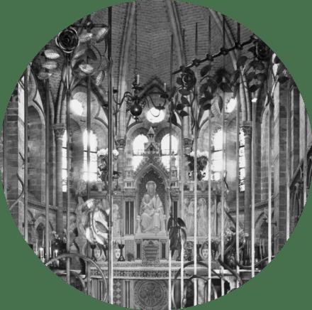 De Mariakapel van de nieuwe Bavo (1951) met het altaar van Joseph Cuypers en Johannes Maas (1898).