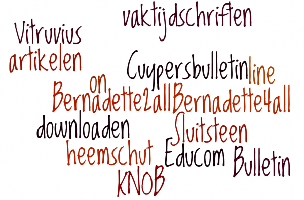 Wordle woordenwolk Bernadette2all (bvhh.nu 2017)