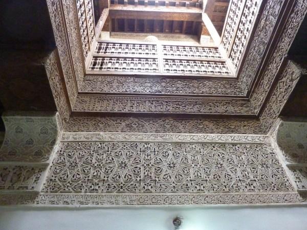 Atomen | Een van de lichtkoepels van de Ben Joesoef Madrassa | Medersa Ben Youssef te Marrakesh (gebouwd circa 1570, gerestaureerd in 1950). bvhh.nu 2014.